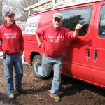 Stan and Jeff Hinrichs,Talented Musician and Handyman, flexing his muscles